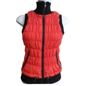 Calvin Klein | quilted puffer vest with knit sides